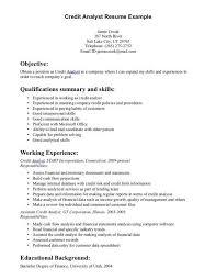 credit analyst resume sample lukex co