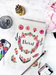 freebies watercolor floral clip art collection roses and