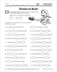math worksheets properties math worksheets printable