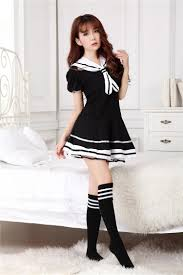 cheap sailor halloween costumes a black costumes dress for student made of modal fibre navy