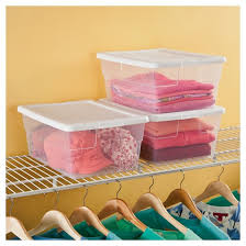 Sterilite Showoffs Storage Container - sterilite 16qt clear storage tote clear with white lid target