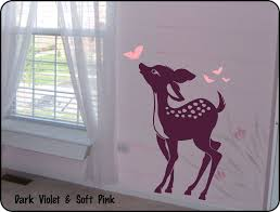 Bedroom Wall Stickers For Toddlers Baby Deer Vinyl Wall Decal Sticker For Nursery Baby Or Boy