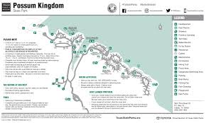 Texas State Park Map by Possum Kingdom State Park Living Joy Daily