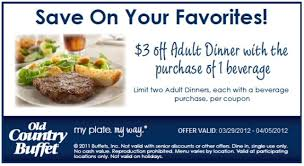 Buffet Coupons For Las Vegas by Free Printable Old Country Buffet Coupon October 2017