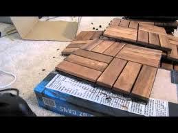 ikea runnen hack turn ikea decking into a bath mat supplemental video youtube