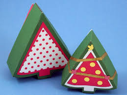 make christmas tree shaped box boxes and bags aunt annie u0027s crafts