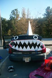 our award winning shark decorated car for trunk or treat trunk