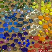 how to make mosaic garden rocks running with sisters