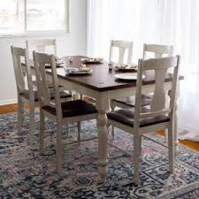 White Furniture Company Dining Room Set Walker Edison Furniture Company Two Toned 7 Piece Bourbon And