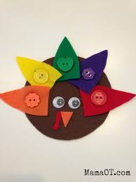 4 turkey themed motor activities