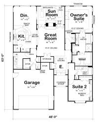traditional style house plan 2 beds 2 baths 2160 sq ft plan 20
