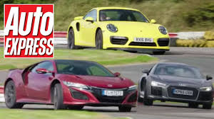 fastest porsche honda nsx vs porsche 911 turbo vs audi r8 v10 which is fastest