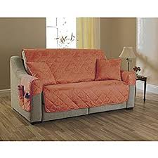 Quilted Sofa Covers 2 Seater Settee Cover Willow Terracotta Quilted Furniture Sofa