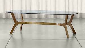 Brass And Glass Coffee Table Glass Coffee Tables Elke Rectangular Glass Coffee Table With Brass