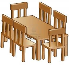 dining room furniture clipart
