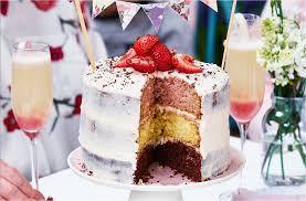 neapolitan layer cake recipe dessert recipes tesco real food
