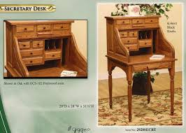 Amish Made Computer Desks Small Roll Top Computer Desk Oak Tree Furniture Amish Furniture