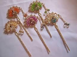 decorative hair pins hair pins decorative hair accessory fanned peacock