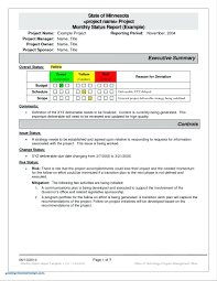 manager weekly report template new project template