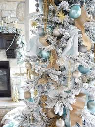 30 dreamy flocked christmas tree decoration ideas christmas