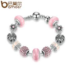 beads charm bracelet images Bamoer silver charm bracelet bangle with royal crown charm and jpg