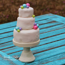 doodlecraft mini 3 tier wedding cake cupcakes
