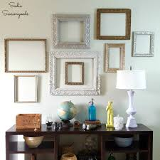 Gallery Wall Frames by Diy Wall Gallery With Vintage Antique Ornate Picture Frames
