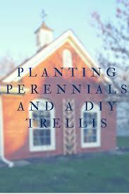 planting perennials and a diy trellis addison meadows lane