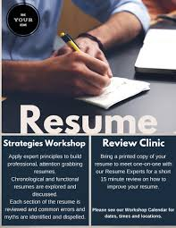 assistance with resume writing san diego metro region career center programs services resume clinic review