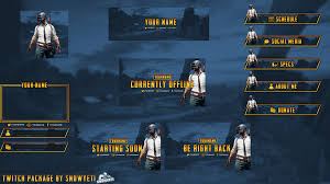 pubg free free full twitch graphics package for livestream download in