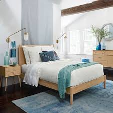 MidCentury Bed  Natural Oak West Elm - West elm mid century bedroom furniture