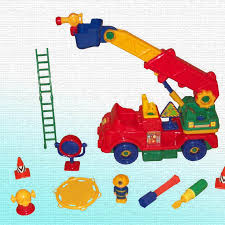 take apart fire engine play set toys