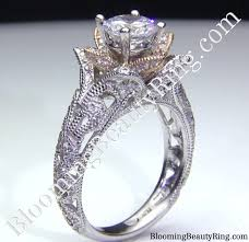 white engagement rings images Rose gold and white gold engagement rings wedding promise jpg