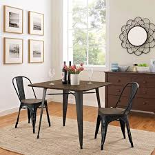 36 inch dining room table alacrity 36 inch square wood dining table in brown modway furniture
