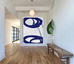 blue and white painting blue and white abstract painting on canvas large abstract art wall