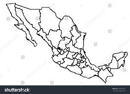 Outline Of America Map by Isolated Political Mexican Map Mexico State Stock Illustration