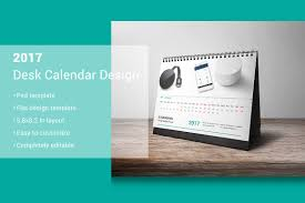 Desk Calendar Design Ideas 2017 Desk Calendar Design Stationery Templates Creative Market