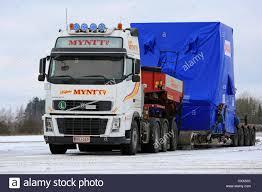 volvo semi trailer forssa finland november 12 2016 white volvo fh16 semi trailer