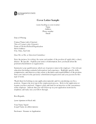 Cover Letter Addressee Unknown Cover Letter Title Resume