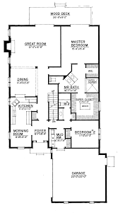 european style house plan 4 beds 3 baths 2452 sq ft plan 1016