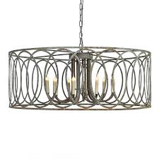 Circle Chandelier Large Iron Chandelier With Circle Motif Mecox Gardens