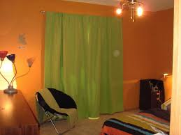 Curtain Color For Orange Walls Inspiration Awesome Curtains As Wall Decor Images The Wall Decorations