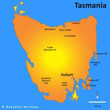 map of tasmania australia tasmania map showing attractions accommodation