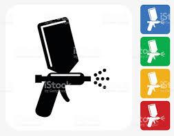 paint spray icon flat graphic design stock vector art 486302930