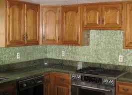 Backsplash Maple Cabinets Mosaic Glass Tile Backsplash Ideas Design For Cabinets How To