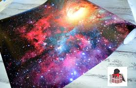 galaxy wrapping paper galaxy wrapping paper sheets space nebula gift wrap gw5053 from
