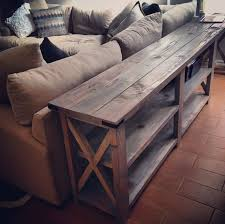 Diy Wooden Coffee Table Designs by Best 25 Diy Sofa Table Ideas On Pinterest Diy Living Room Diy