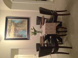 dining room framed art i love my new round glass top dining table pier 1 simon x table