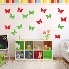 butterflies vinyl wall stickers by mirrorin notonthehighstreet com butterflies vinyl wall stickers
