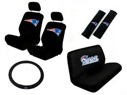 Auto Expressions Bench Seat Covers 11 Piece Nfl Auto Interior Gift Set New England Patriots A Set